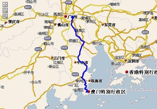 广州-珠海横琴线路
